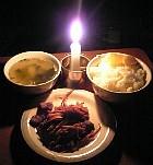 停電中食事